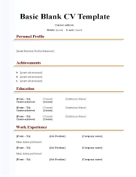Example Basic Resume Classy Basic Resume Example Sample Blank Form Fill In The Template Easy