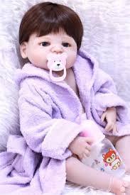 <b>70cm Silicone Reborn</b> Baby Doll Toys Long Hair lifelike Princess ...