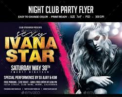 Birthday Flyers Flyers Psd Evening Club Birthday Party Flyer Download
