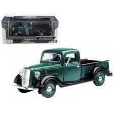 1937 Ford Pickup Truck Green 1/24 Diecast Car Model By Motormax : Target