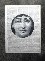 Fornasetti Art Prints Vintage Dictionary Print Fornasetti Wink Felt