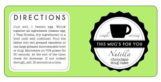 nutella chocolate mug cake single serving gift