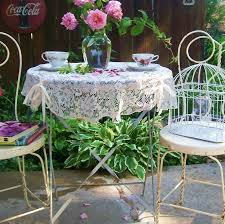 shabby chic patio furniture. vintage white shabby chic bistro cafe set wrought iron patio antique ice cream furniture