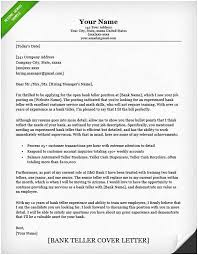 Banking Cover Letter Bank Teller Cover Letter Sample Ambfaizelismail