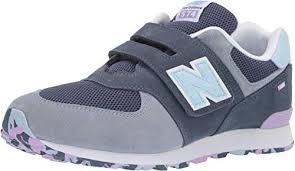 New New Balance Kids' Iconic <b>574 Hook and</b> Loop Sneaker Boys ...
