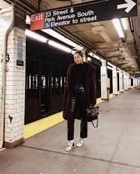 self portrait vinyl pants and faux fur coat