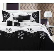 Pros And Cons Of White Comforter   Trina Turk Bedding   Decorating ... & 30 ideas for black and white comforters Adamdwight.com