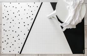 Decorative Kitchen Rugs Black And White Geometric Rug Kitchen Rug Minimalist Kids