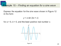 20 example 10 finding an equation for a sine wave express the equation for the