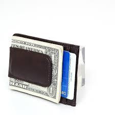 aod mens leather money clip slim front pocket wallet magnetic id credit card holder com