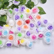 <b>10pcs</b>/<b>lot</b> 2cm mini two color foam rose head wedding dress <b>high</b> ...