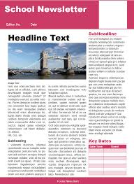 Education Newsletter Templates Creating A School Newsletter Template Using Adobe Indesign