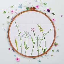 Modern Cross Stitch Patterns Classy Modern Wildflower Cross Stitch Pattern Easy Natural Flower Cross