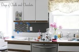 easy diy self adhesive faux tile backsplash for cream kitchen inspiration