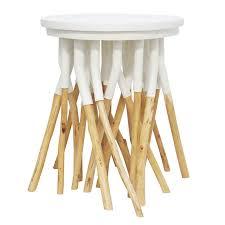asha side tablein eucalyptus iron white