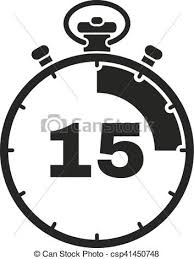 Timer 15 The 15 Seconds Minutes Stopwatch Icon Clock And Watch Timer Countdown Symbol Ui Web Logo Sign Flat Design App
