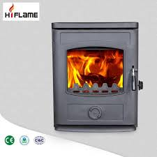hiflame high quality cast iron wood burning fireplace insert with steel and boiler gr357ib