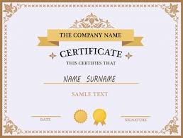 Sample Certificates Templates Certificate Template Design Vector Free Download