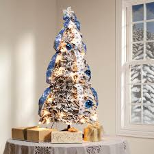 3 snow frosted spruce prelit pull up tree by holiday peak 360612