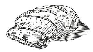 loaf of bread drawing. Interesting Drawing Loaf Bread Cut Drawing Throughout Of O