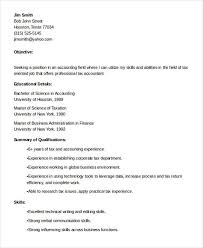 Sample Accounting Resume Objective 23 Accountant Resume Templates In Pdf Free Premium