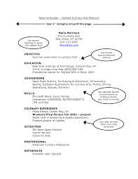 student resume builder getessay biz resume sample culinary arts resume use margins around the throughout student resume