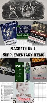 die besten macbeth analysis ideen auf der macbeth  macbeth bundle supplementary materials for any macbeth unit