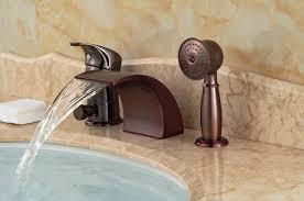 roman tub faucet oil rubbed bronze. luxury oil rubbed bronze roman waterfall tub faucet 3 pcs sink mixer tap diverter w/