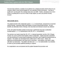 Procedure Note Template Clinical Forms Crh Oregan System