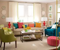 bright colorful living room designs
