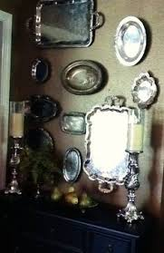 Decorating With Silver Trays Dining room wall My Style Pinterest Walls Room and Silver trays 88
