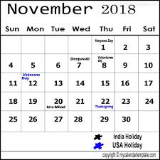 November Through November Calendars November 2018 Calendar India Holidays November Calendar Calendar