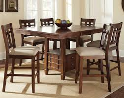 furniture glamorous counter height dining table sets 4 steve silver bolton piece set with storage s