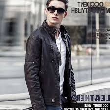 details about mens leather jacket biker coat leisure motorcycle tops warm slim outwear stylish