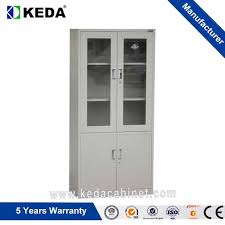 china modern office glass door office cupboard steel filing instrument storage cabinets with lock manufacturers and suppliers furniture factory keda