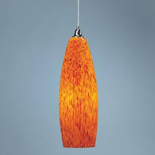 semi pendant light glossy orange finish. Satin Nickel Spotted Pendant Light | LampsPlus.com Semi Glossy Orange Finish