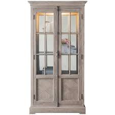 mustique solid mindi wood display cabinet