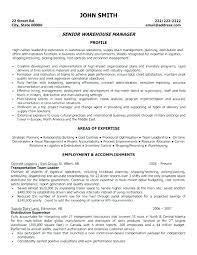 Sample Resume For Warehouse Supervisor Warehouse Supervisor Cover