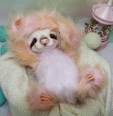 artist toy sloth rozzy by oksana timchenko