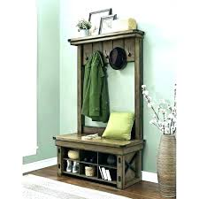 Hall Coat Rack With Storage Enchanting Hall Coat Rack Bench Hall Tree Storage Hallway Coat Rack Bench Be