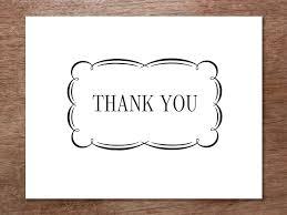 Thank You Black And White Printable Printable Thank You Card Flourish Printable Thank You