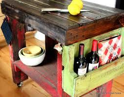diy kitchen island cart. DIY Pallet Wood Kitchen Island Cart Diy