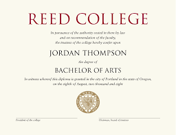 reed college gold embossed diploma frame in studio gold item