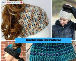 Ponytail Beanie Crochet Pattern Impressive 48 Messy Bun Hat Patterns AllFreeCrochet