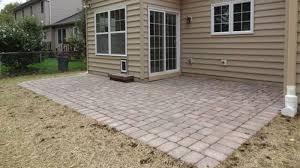 concrete paver patio installation