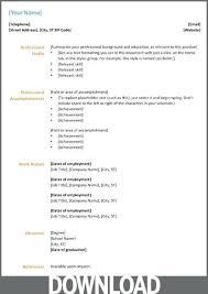 Resume Format In Word 2007 Free Microsoft Word Resume Template Microsoft Office Resume Cv01