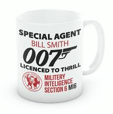 office mugs. Personalised James Bond Mugs Office Porcelain Coffee Cups