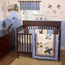 4 piece crib bedding set zoom along