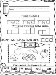 Check out these free cut and paste printables and ideas not only do these activities help keep her busy while i am working with the older kids, it also helps printable elmo cut and paste activity from fun with mama. Color Red Worksheets Color Book Cut Paste Color Sort By Under Kidstruction