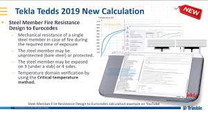 Design Resistance Steel Member Fire Resistance Design Calculation In Tekla Tedds 2019